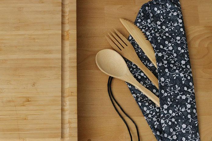 Drewniane wyposażenie kuchni